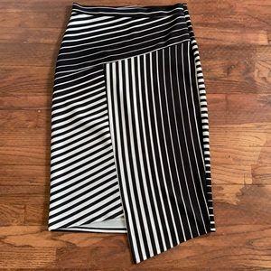 Faith and Joy black asymmetrical pencil skirt